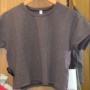 Tops - Lululemon short sleeve cropped tee